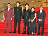 『第31回東京国際映画祭』オープニングイベントのレッドカーペットに登場した『半世界』キャスト (C)ORICON NewS inc.