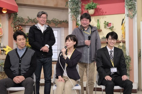 HTB北海道テレビの開局50周年ドラマ『チャンネルはそのまま!』(2019年3月放送)クランクアップ直後の記者会見(C)HTB