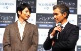 WOWOW『連続ドラマW パンドラIV AI戦争』の完成披露試写会に出席した(左から)向井理、渡部篤郎 (C)ORICON NewS inc.