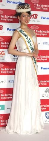 『2019 ミス・インターナショナル日本代表選出大会』グランプリを受賞した岡田朋峰さん (C)ORICON NewS inc.