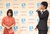 お互いの笑顔について語る浜辺美波(左)と桐谷健太=ベストスマイル・オブ・ザ・イヤー2018』授賞式 (C)ORICON NewS inc.
