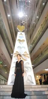 表参道ヒルズで行われたクリスマスイルミネーション点灯式に出席した桐谷美玲 (C)ORICON NewS inc.