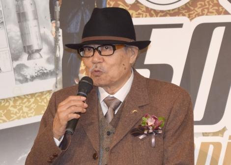 『ビッグコミック 50周年展』のオープニングセレモニーに出席したさいとう・たかを