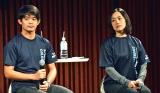 『Tokyo健康ウオーク2018』のトークショーに出席した(左から)小塚崇彦さん、上村愛子さん (C)ORICON NewS inc.