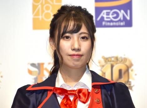『SKE48 10周年記念 イオンカード デビュー発表会』に出席したSKE48・荒井優希 (C)ORICON NewS inc.