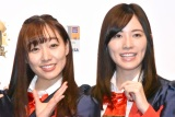 『SKE48 10周年記念 イオンカード デビュー発表会』に出席したSKE48(左から)須田亜香里、松井珠理奈 (C)ORICON NewS inc.