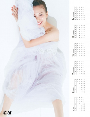 『ar』12月号の森絵梨佳2019カレンダー