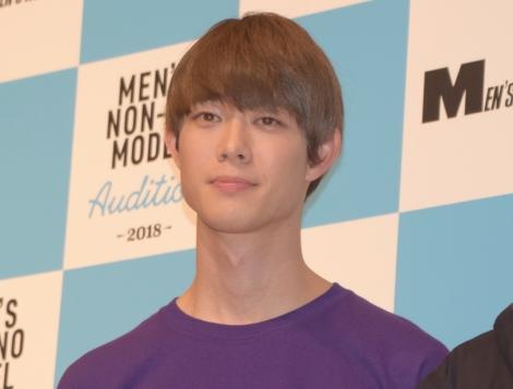 男性ファッション誌『メンズノンノ』の専属モデルを選出する公開オーディションに出席した宮沢氷魚 (C)ORICON NewS inc.