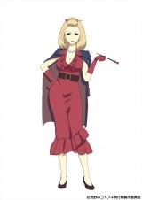 矢島晶子が演じるキャラクターのマダム・ルゥルゥ (C)荒野のコトブキ飛行隊製作委員会