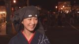 秋田県羽後町の「西馬音内盆踊り」を取材した壇蜜(C)NHK