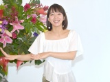 フラダンスのポーズをする吉岡里帆 (C)ORICON NewS inc.