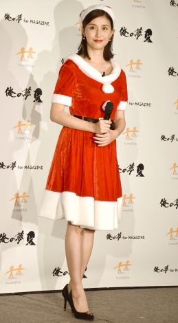 『俺の夢』クリスマスプレゼントキャンペーンPRイベントに登場した橋本マナミ (C)ORICON NewS inc.