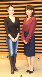 (左から)荒川静香さんと高橋尚子さん=TOKYO FM『MY OLYMPIC』収録取材 (C)ORICON NewS inc.