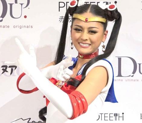 サムネイル 人気少女まんが『美少女戦士セーラームーン』のコスチュームを披露した加藤遊海さん (C)Naoko Takeuchi