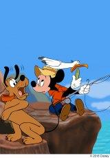 『ミッキーの魚釣り』(1953年)(C)2018 Disney