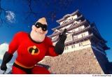 姫路城にてMr.インクレディブル=『インクレディブル・ファミリー』(C)2018 Disney/Pixar