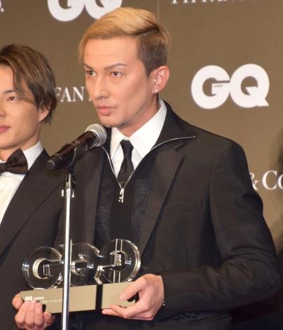『GQ MEN OF THE YEAR 2018』を受賞したDA PUMP・ISSA (C)ORICON NewS inc.