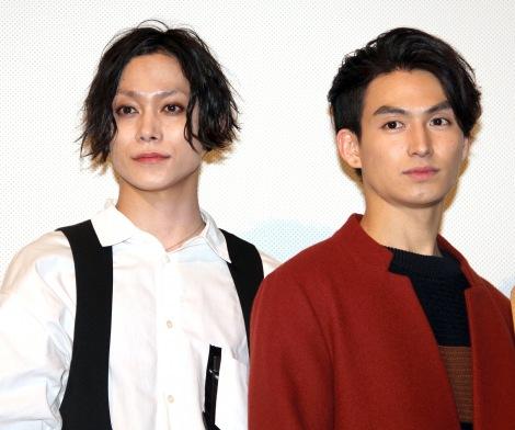 映画『ONLY SILVER FISH』初日舞台あいさつに出席した(左から)玉城裕規、松田凌 (C)ORICON NewS inc.