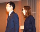 浅井良二さんのお別れの会に参列した(左から)モンキッキー、山川恵里佳 (C)ORICON NewS inc.