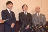 浅井良二さんのお別れの会に参列した(左から)関根勤、萩本欽一、小堺一機 (C)ORICON NewS inc.