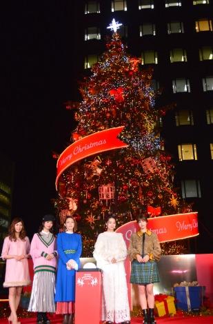 『青山クリスマスサーカスby avex』イルミネーション点灯式の模様 (C)ORICON NewS inc.