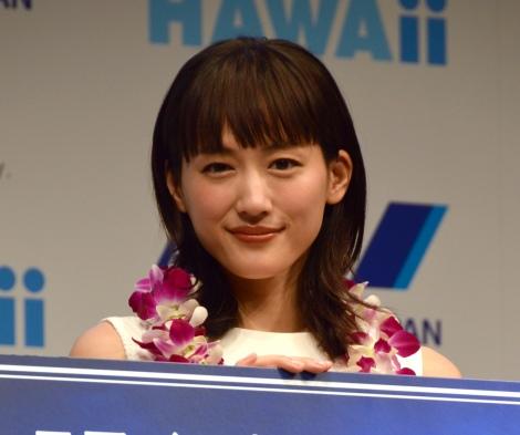 ANA HAWAii『エアバスA380型機』就航発表会に出席した綾瀬はるか (C)ORICON NewS inc.