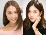 大人の詐欺メイクを披露した元eggモデルの水野祐香(左)と北川景子のものまねメイクを披露したYouTuberななみ(右)