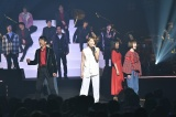 『Act Against AIDS 2018「THE VARIETY 26」』に出演した(左から)柚希礼音、寺脇康文、花澤香菜、藤林美沙