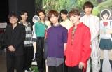 (後列左から)カイ、タクヤ、ユースケ、タカシ(前列左から)細田守監督、リョウガ、ユーキ (C)ORICON NewS inc.