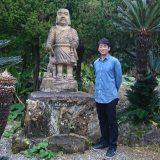 自身にも、自身が演じた江藤新平にも、西郷隆盛にもゆかりある鹿児島県指宿市を訪れた迫田孝也(C)NHK