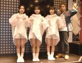 『新曲発売記念イベント』の囲み取材に出席した(左から)HINA、SENA、MAMI、KEN (C)ORICON NewS inc.