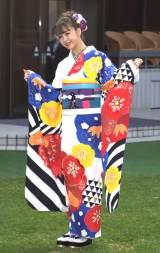 オスカープロモーションの「晴れ着撮影会」に出席した藤田ニコル (C)ORICON NewS inc.