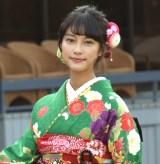 オスカープロモーションの「晴れ着撮影会」に出席した玉田志織 (C)ORICON NewS inc.