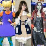 『東京コミコン2018』 コスプレイヤー(左から)NASUVIさん、円さん、Shizukuさん (C)oricon ME inc.