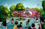 新キャラクターグリーティング施設の外観(C)Disney