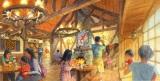 「美女と野獣エリア(仮称)」のレストランの内観(C)Disney