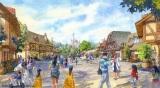 「美女と野獣エリア(仮称)」の街並み(C)Disney