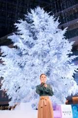 白く輝くモミの木をバックにスペシャルライブを行った西野カナ