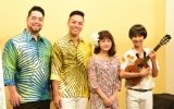 『ディズニー・ハワイアン コンサート2019』制作会見に出席した(左から)カラニ、キナ、昆夏美、近藤利樹 (C)ORICON NewS inc.