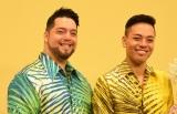 『ディズニー・ハワイアン コンサート2019』制作会見に出席した(左から)カラニ、キナ (C)ORICON NewS inc.