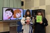 フジテレビ系『ちびまる子ちゃん』のアフレコに挑戦したPUFFY (C)さくらプロダクション/日本アニメーション