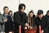中国映画『破陣子』クランクインセレモニーに臨む綾野剛