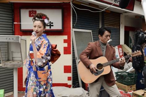 カンテレ開局60周年特別ドラマ『BRIDGE はじまりは1995.1.17神戸』(2019年1月15日放送)に出演する片瀬那奈(C)カンテレ