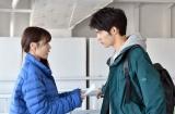 11日放送のTBS系連続ドラマ『中学聖日記』より有村架純、岡田健史(C)TBS