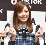 """""""変顔解禁""""を宣言したSKE48・松井珠理奈=『「SKE48」TikTokerデビューお披露目会』 (C)ORICON NewS inc."""