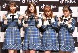 SKE48(左から)日高優月、松井珠理奈、高柳明音、竹内彩姫、小島よしお (C)ORICON NewS inc.