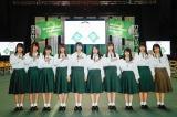 欅坂46の2期生9人とけやき坂46の3期生1人(右端)が日本武道館でお披露目