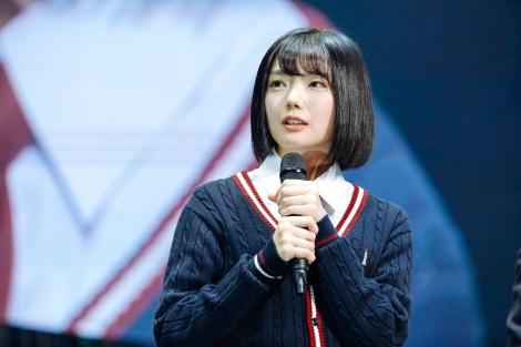 「サイレントマジョリティー」でセンターを務めた藤吉夏鈴(17)