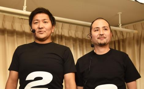 Nintendo Switch版『シドマイヤーズ シヴィライゼーション6』発売記念イベントに登壇したスリムクラブの(左から)真栄田賢、内間政成 (C)ORICON NewS inc.