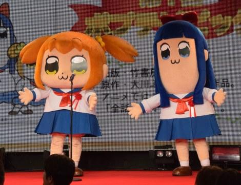 アニメ『ポプテピピック』の登場キャラ(左から)ポプ子、ピピ美 (C)大川ぶくぶ/竹書房・キングレコード